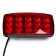 Фонарь противотуманный красный  15 LED (12-24В) с кронштейном 138*68*46мм с металическим кронштейном